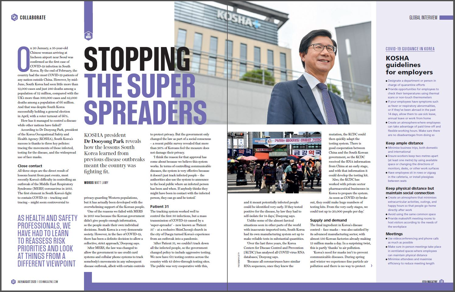 Stopping the Super Spreads_Dr. Dooyong Park, interview with IOSH, UK