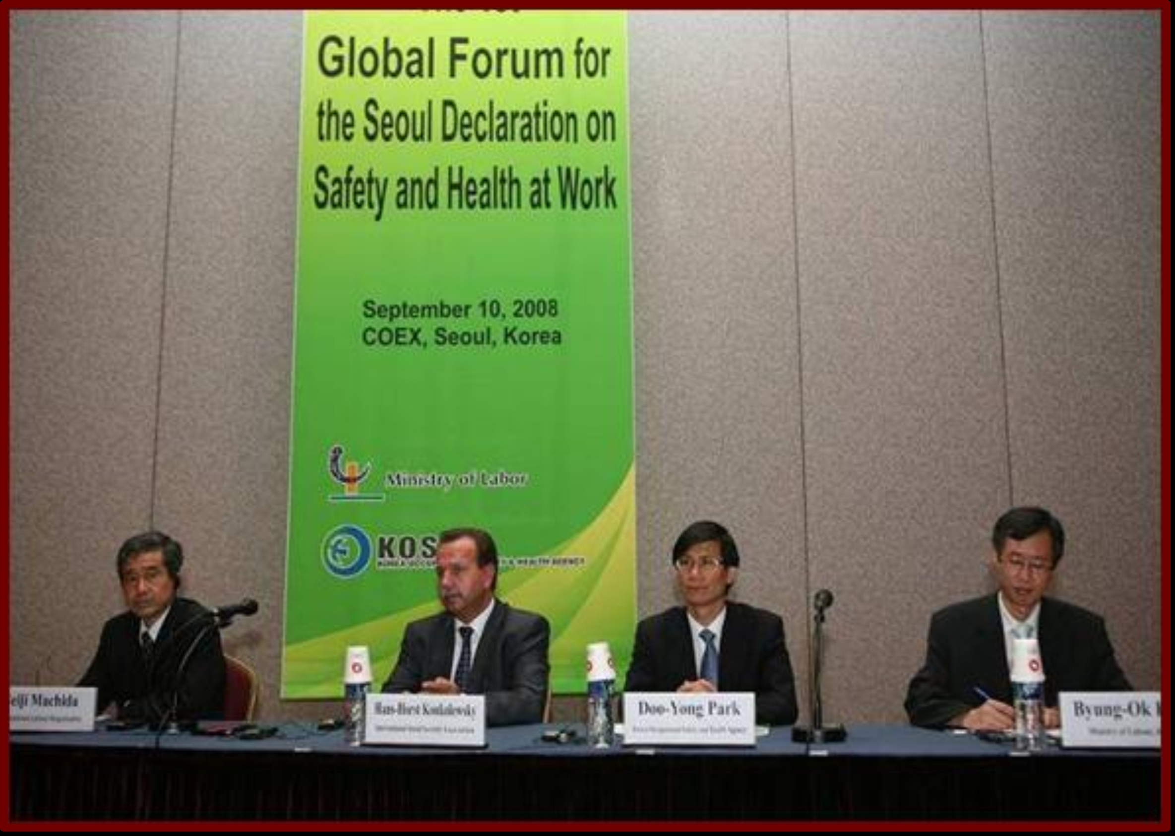 The Global Forum on the Seoul Declaration on Safety and Health at Work