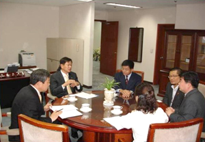Visit by ILO Specialists at the Asia-pacific Regional Office